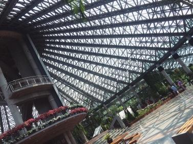 Inside the garden pavilion