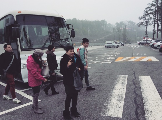 Stopover. Check out how foggy it was.