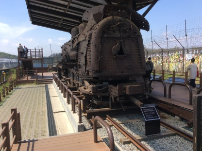 One of the trains that used to travel to and fro North Korea during the Korean War.