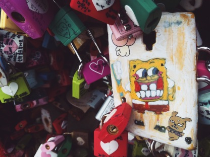 Spongebob has come from the sea to the mountains all for the sake of love.