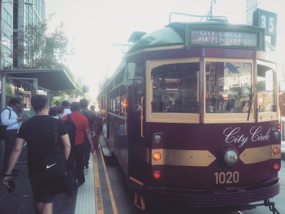 We made sure to try one of the old city trams left running in Melbourne. Most have already been replaced by more modern ones.