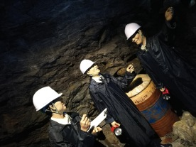Life inside the cave when it was used a mine