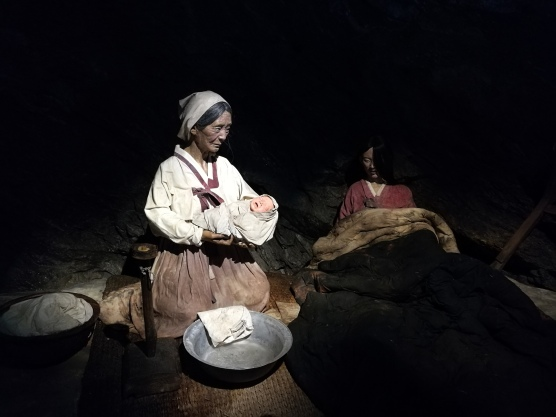 Giving birth inside the cave