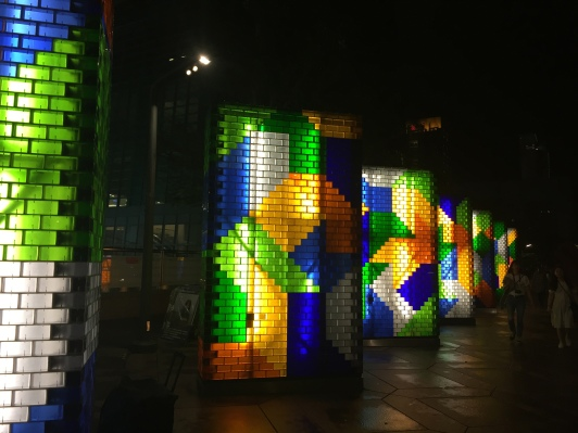 Art installation outside Taipei 101
