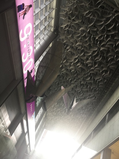 Cool ceiling works at Taipei Main Station
